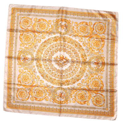 Versace Scarf White Gold