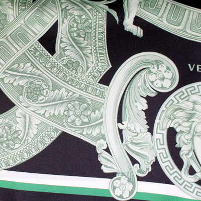 Versace Scarf Green Black New