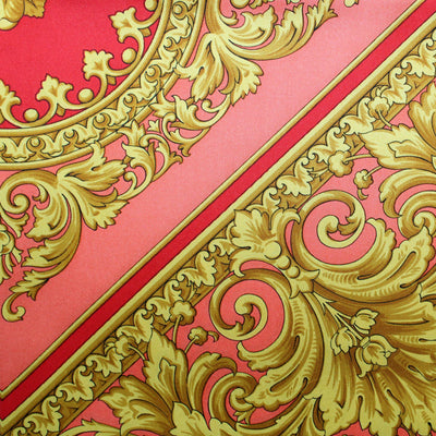 Versace Scarf Red Pink Gold Baroque