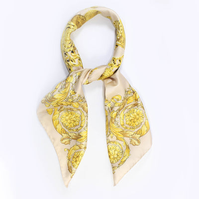 Versace Scarf Light Pink Gold Chain