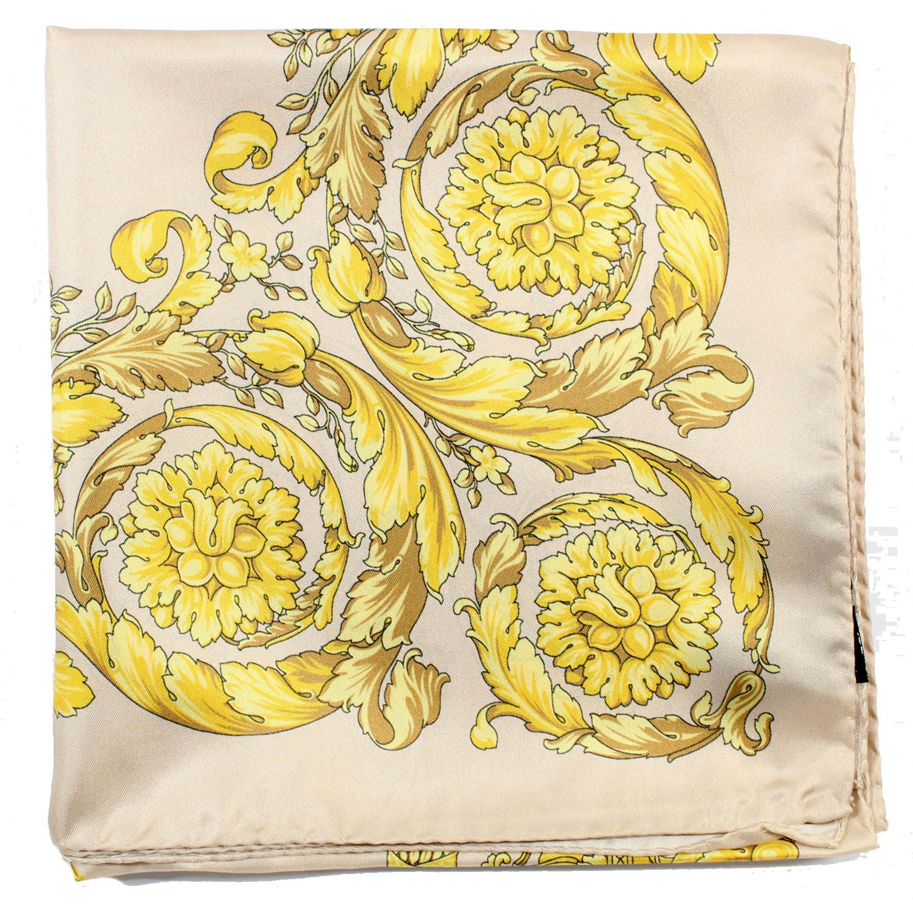 Versace Scarf Light Pink Gold  Silk Square Scarf