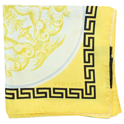 Genuine Versace Scarf Yellow Greek Knit