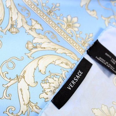 Versace Scarf Blue Taupe Baroque