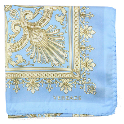 Versace Scarf Blue Taupe