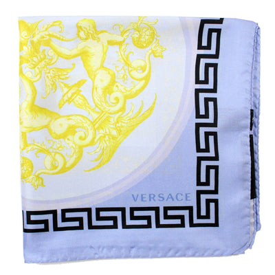 Versace Scarf Lilac Greek Knit