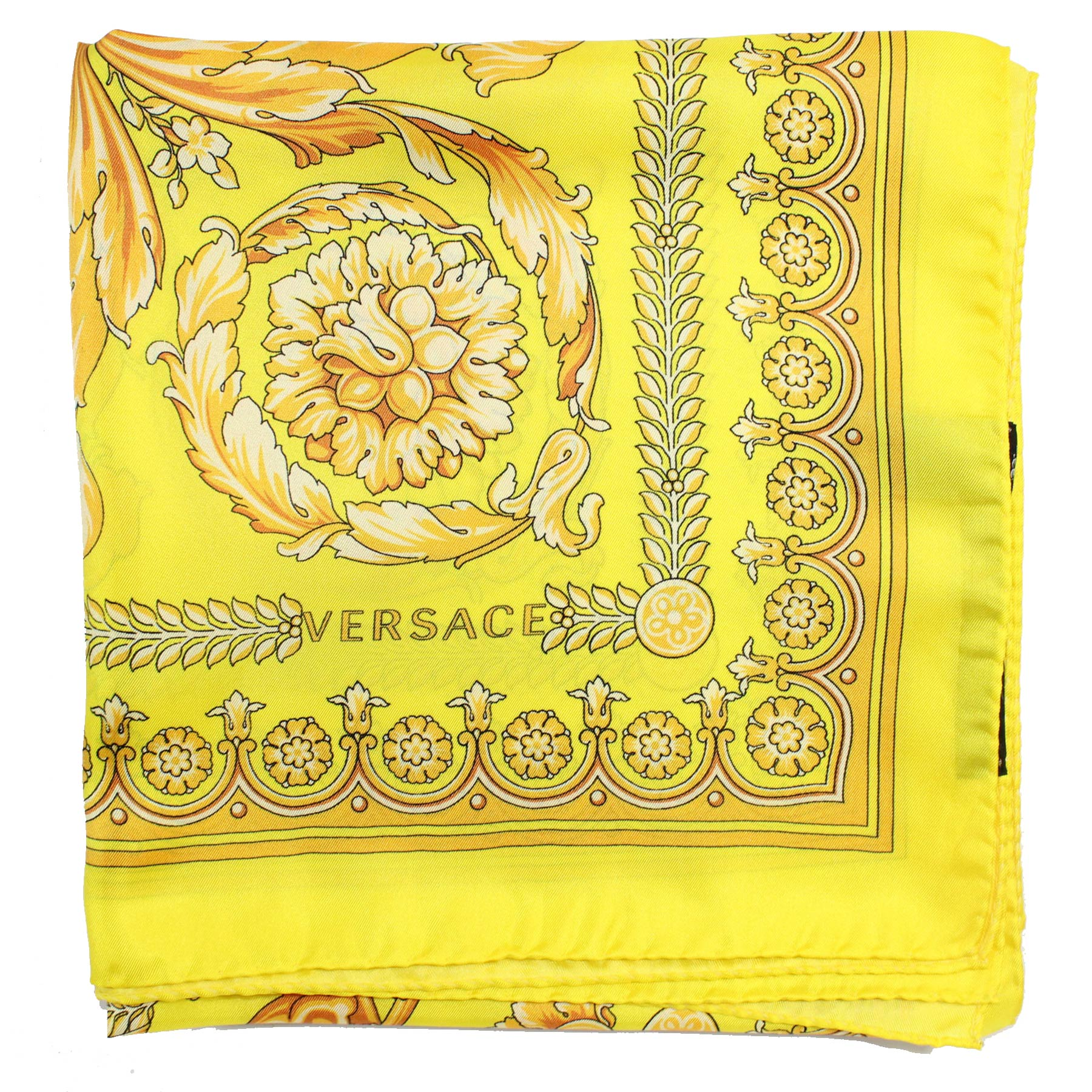 Versace Scarf Lime Signature Baroque & Skul