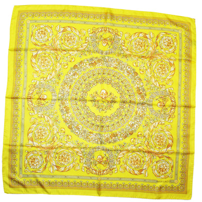 Versace Scarf Lime Signature Baroque