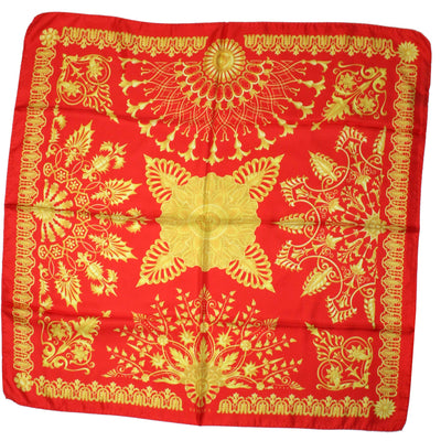 Versace Scarf Red Mustard Gold
