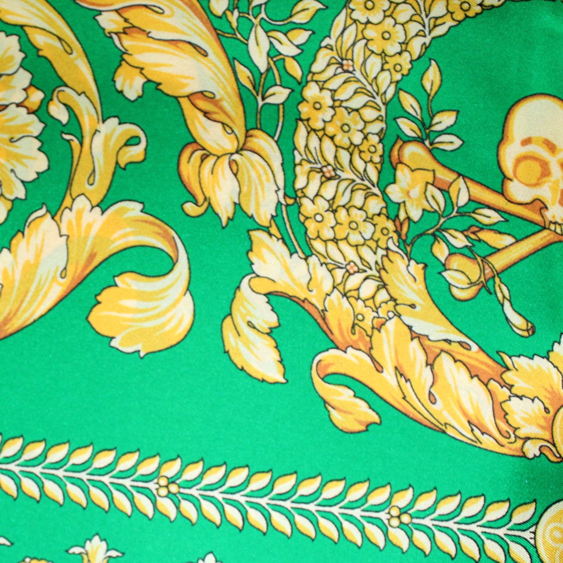 Versace Scarf Green Gold