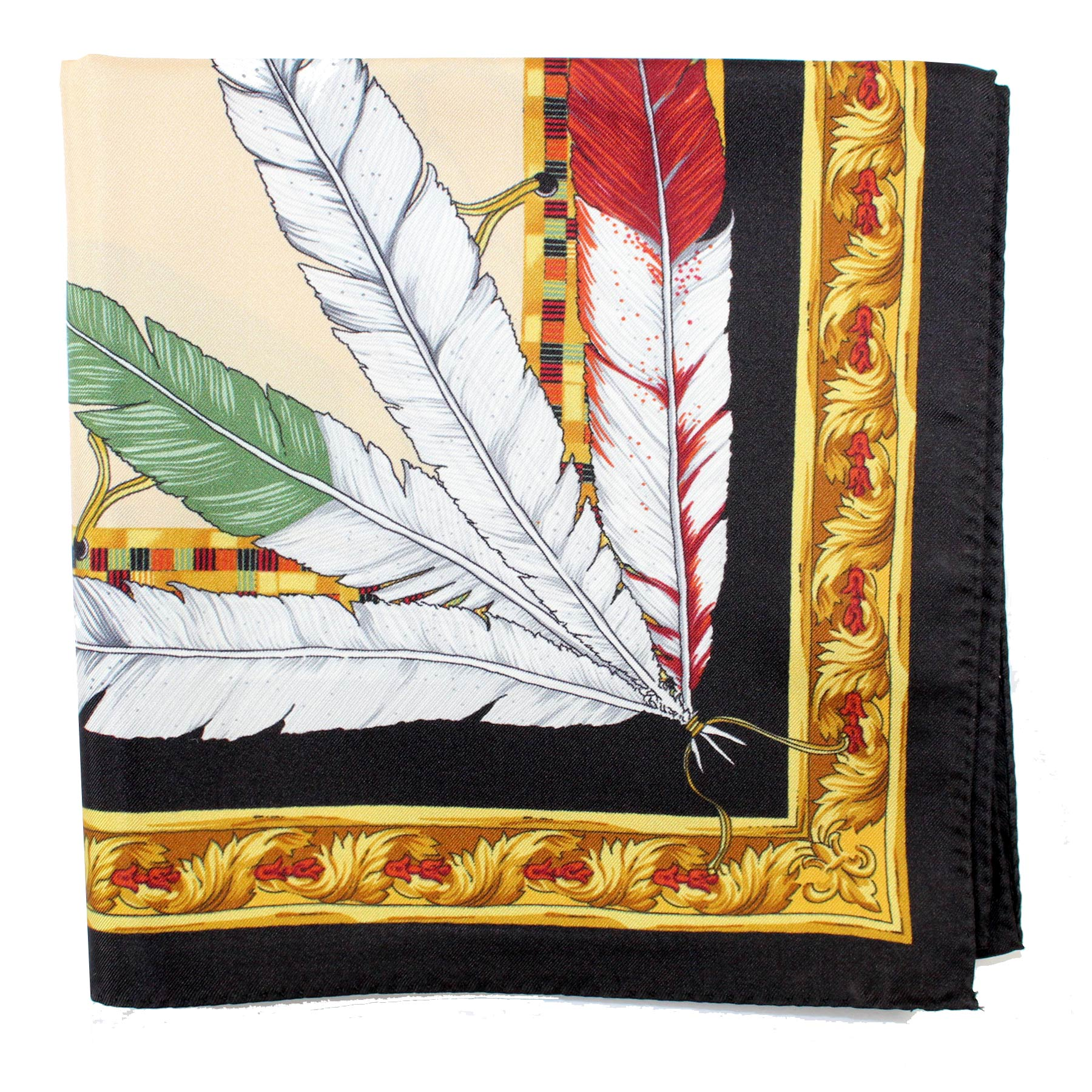 Versace Scarf Feather Headdress