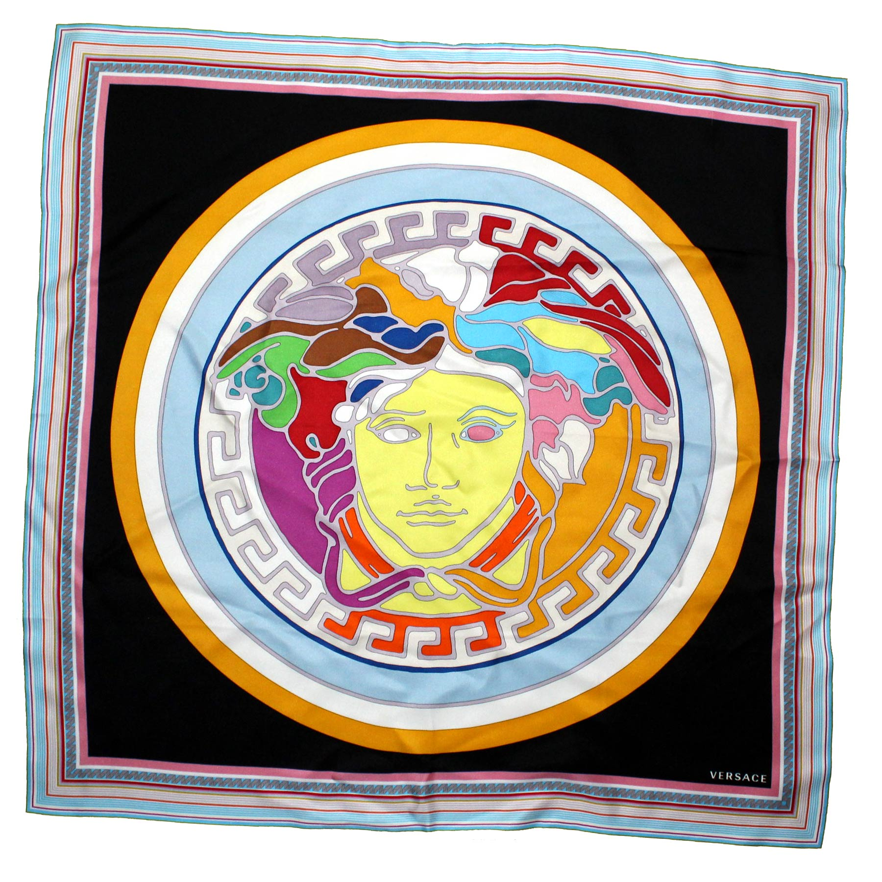 Versace Scarf Medusa - Large Twill Silk Square Scarf