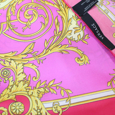 Versace Scarf Pink Yellow Gold Baroque