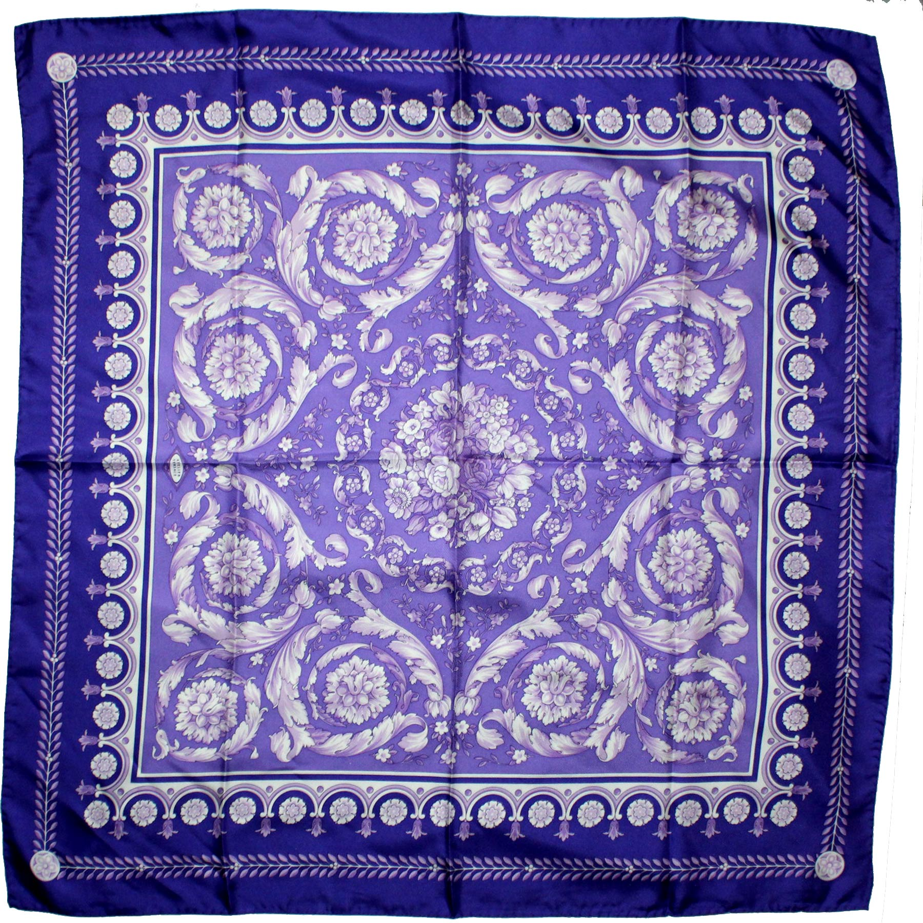 Genuine Versace Scarf Purple Baroque