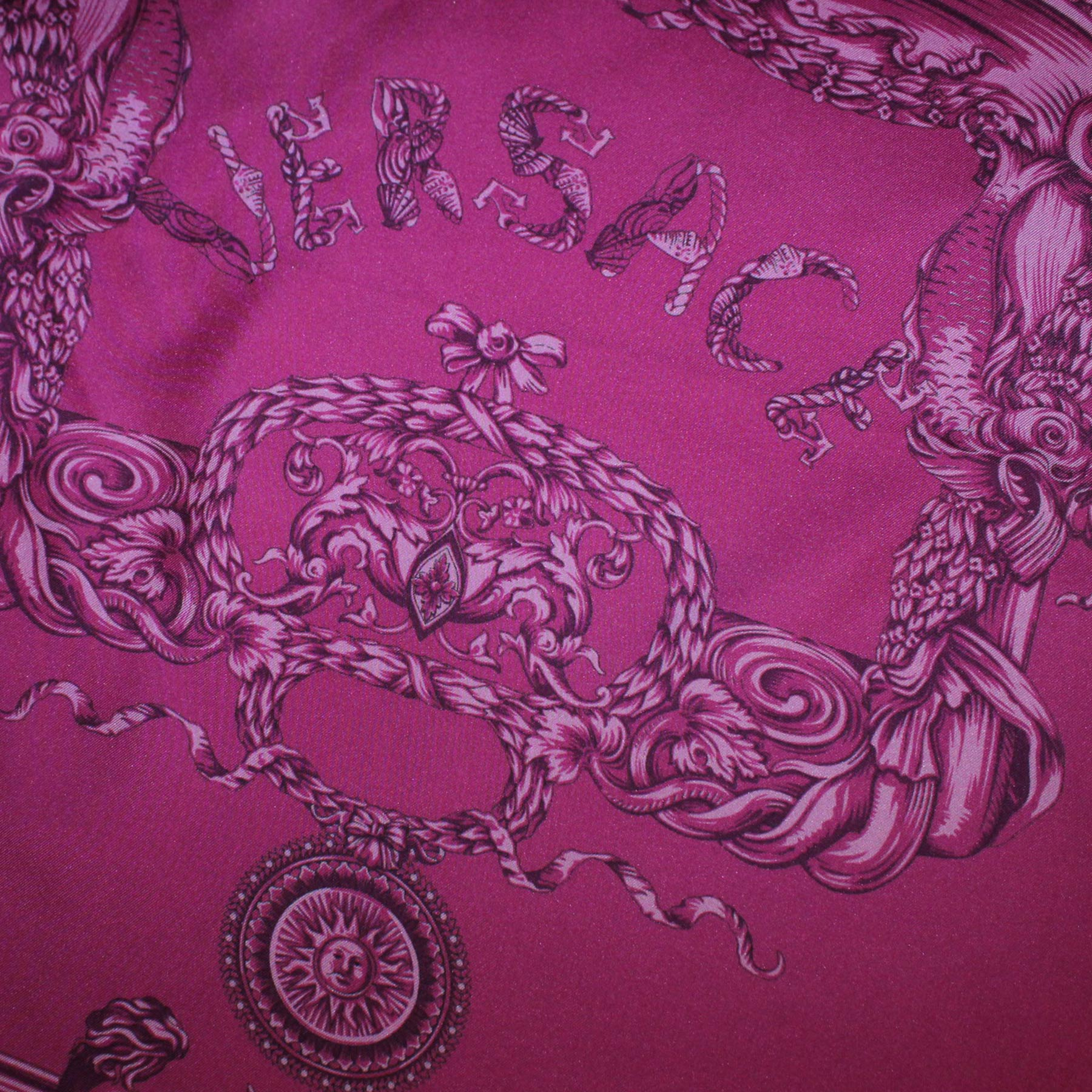 Versace Scarf Purple Orange Baroque