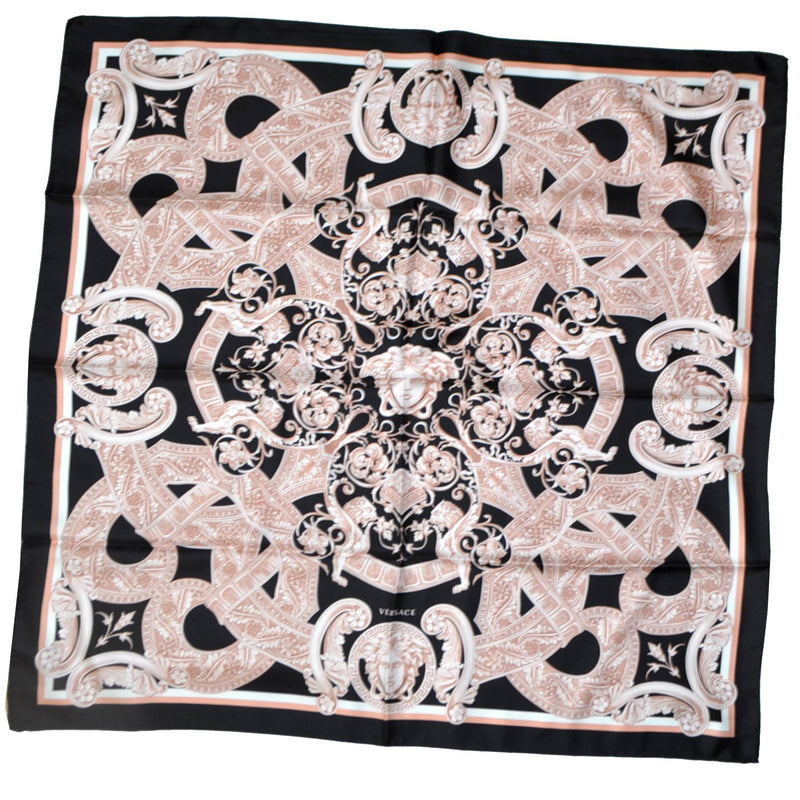 Versace Scarf Black Dust Pink Design