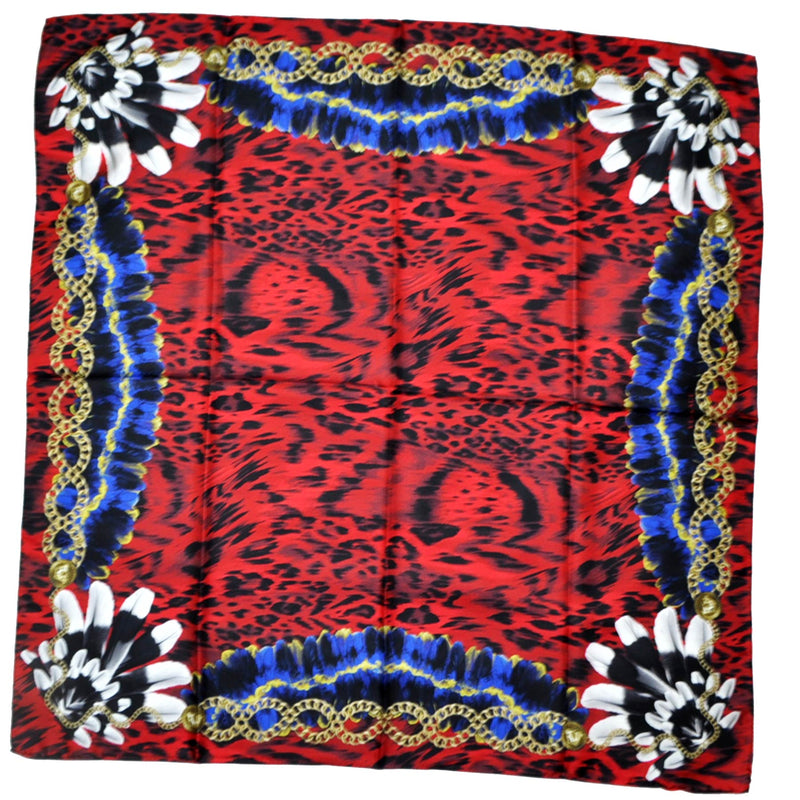 Versace Scarf Dark Red Feather