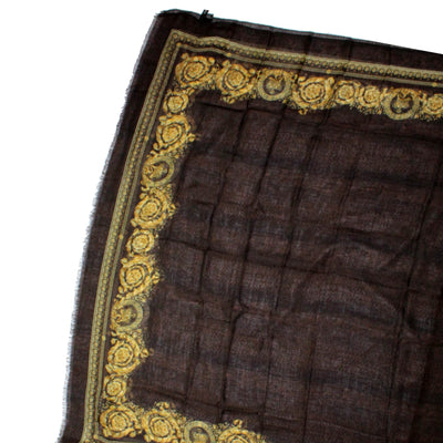 ersace Scarf Black Gold Design - Modal Cashmere Large Wrap