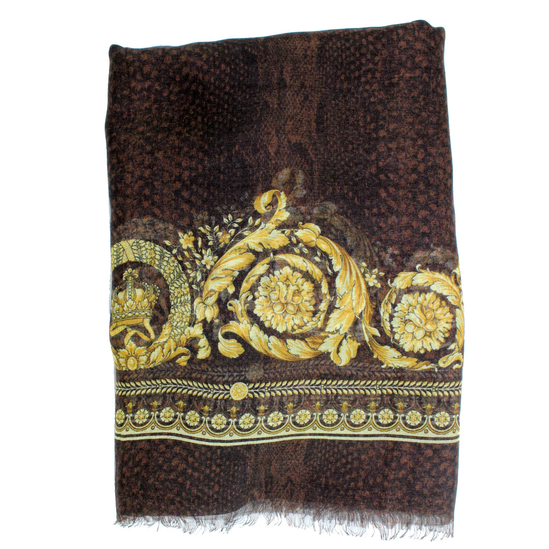 Versace Scarf Black Gold
