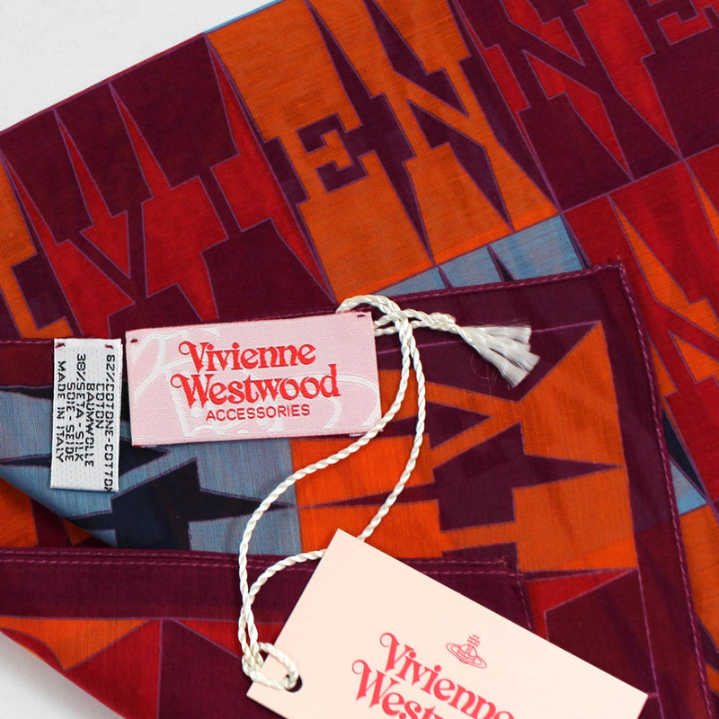 Vivienne Westwood Fazzoletto Bordeaux Orange Logo