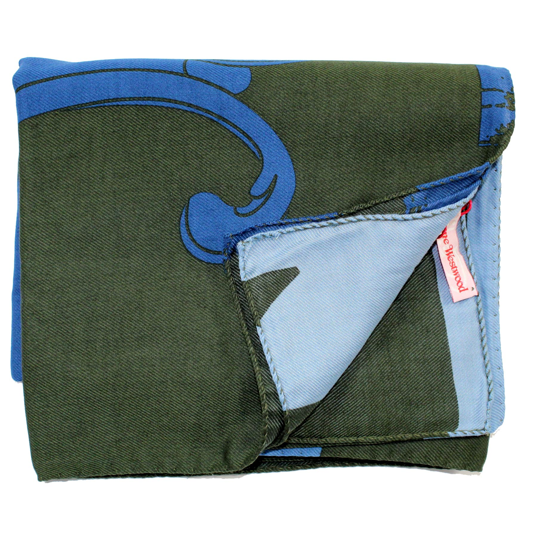 Vivienne Westwood Scarf Green Blue Extra Large Wrap