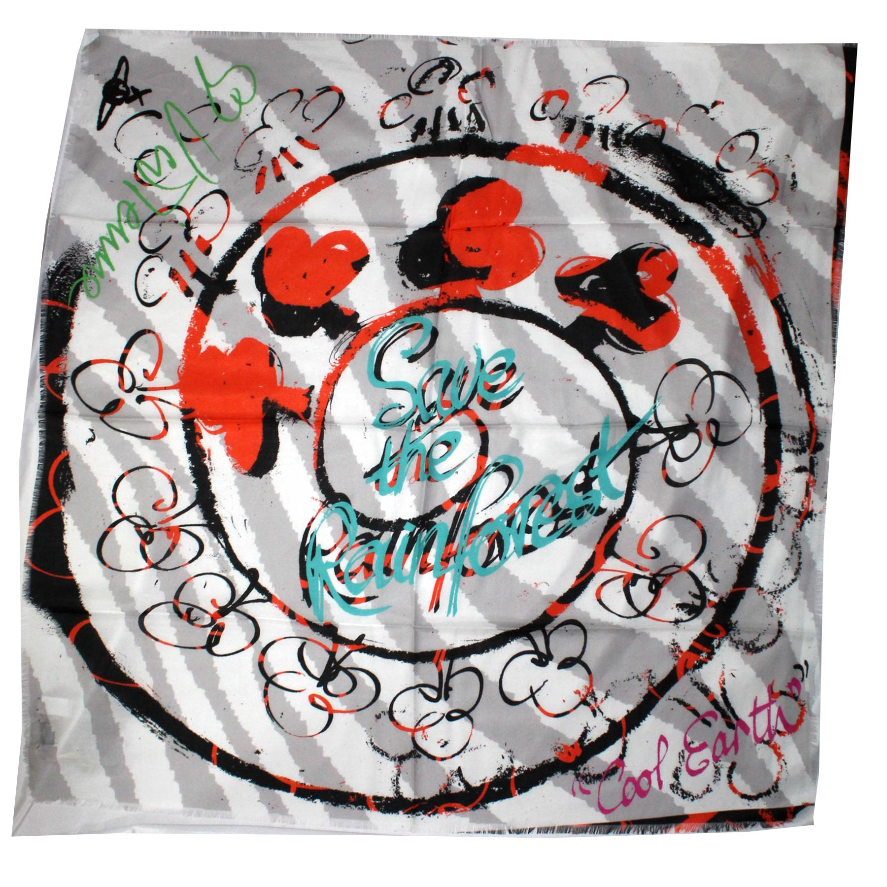 Vivienne Westwood Scarf Save The Rainforest - Large Square Scarf SALE
