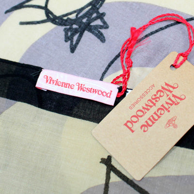 Vivienne Westwood Small Scarf Hearts Cotton FINAL SALE