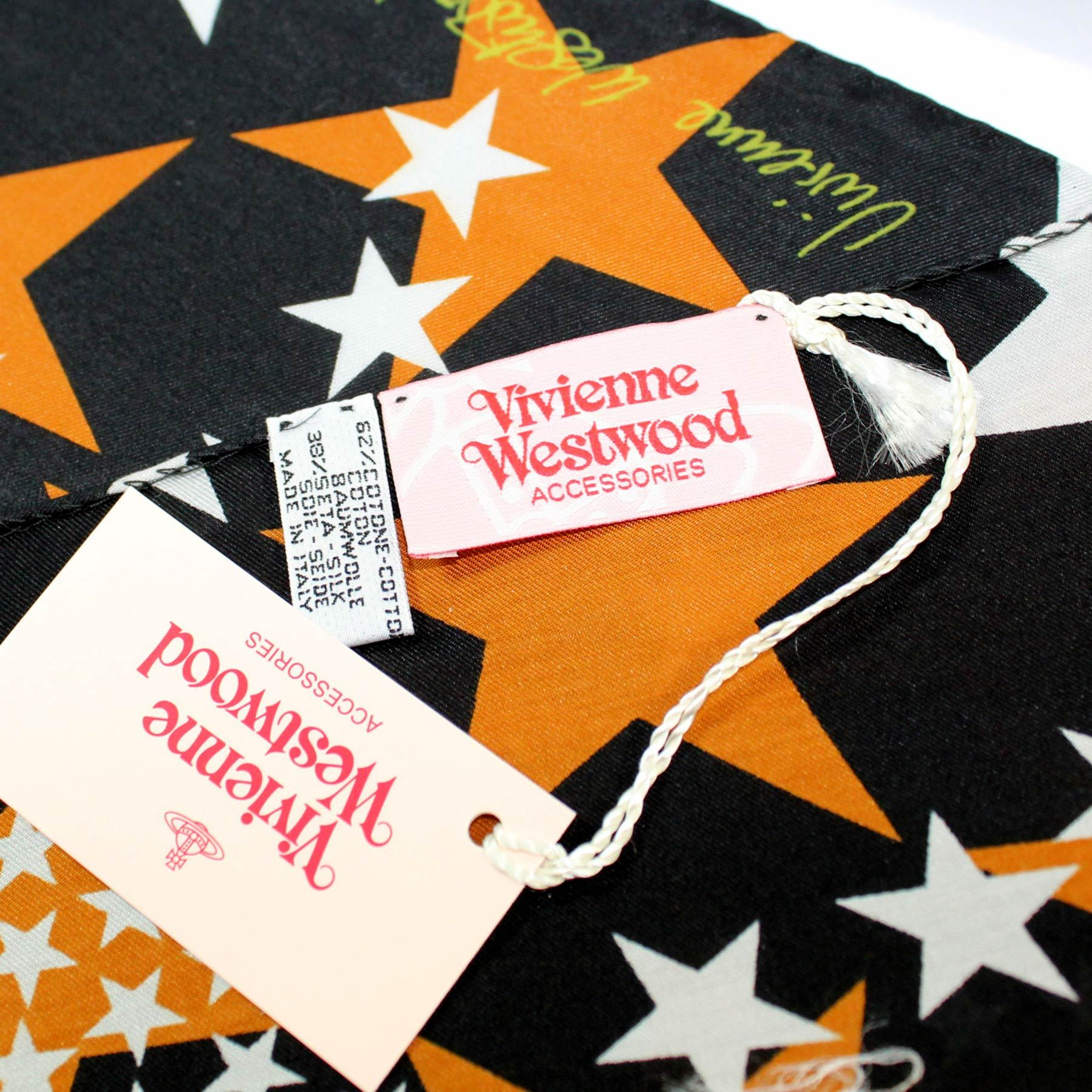 Vivienne Westwood Small Scarf Stars Design
