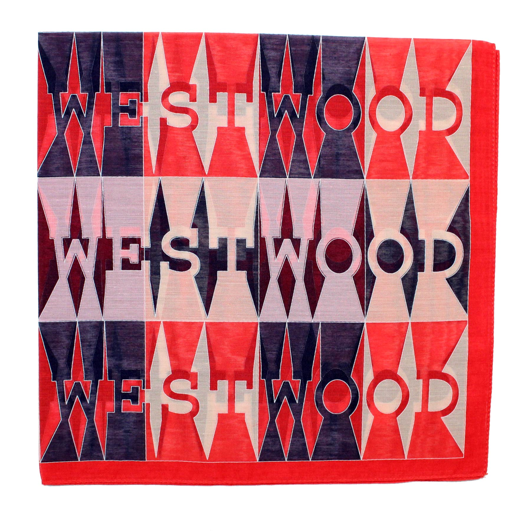 Vivienne Westwood Fazzoletto Logo Small Cotton Silk Scarf - FINAL SALE