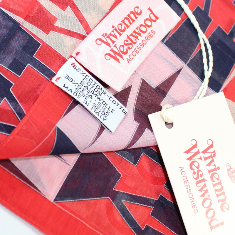 Vivienne Westwood Fazzoletto - Logo Small Cotton Silk Scarf FINAL SALE