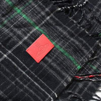 Vivienne Westwood Poncho Gray Black Plaid Wool REDUCED - SALE