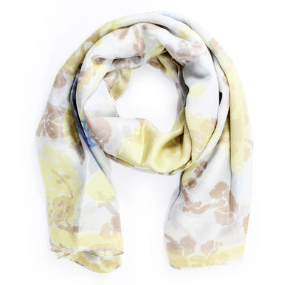 Vivienne Westwood Scarf Cream Yellow Floral Scarf BLACK FRIDAY SALE
