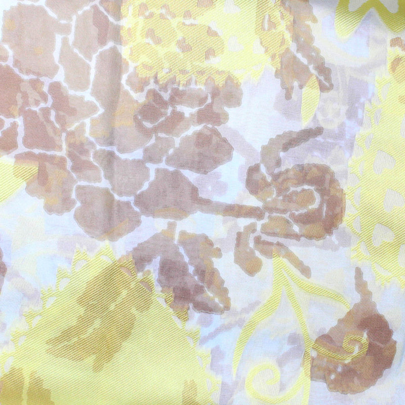 Vivienne Westwood Scarf Cream Yellow Floral Scarf