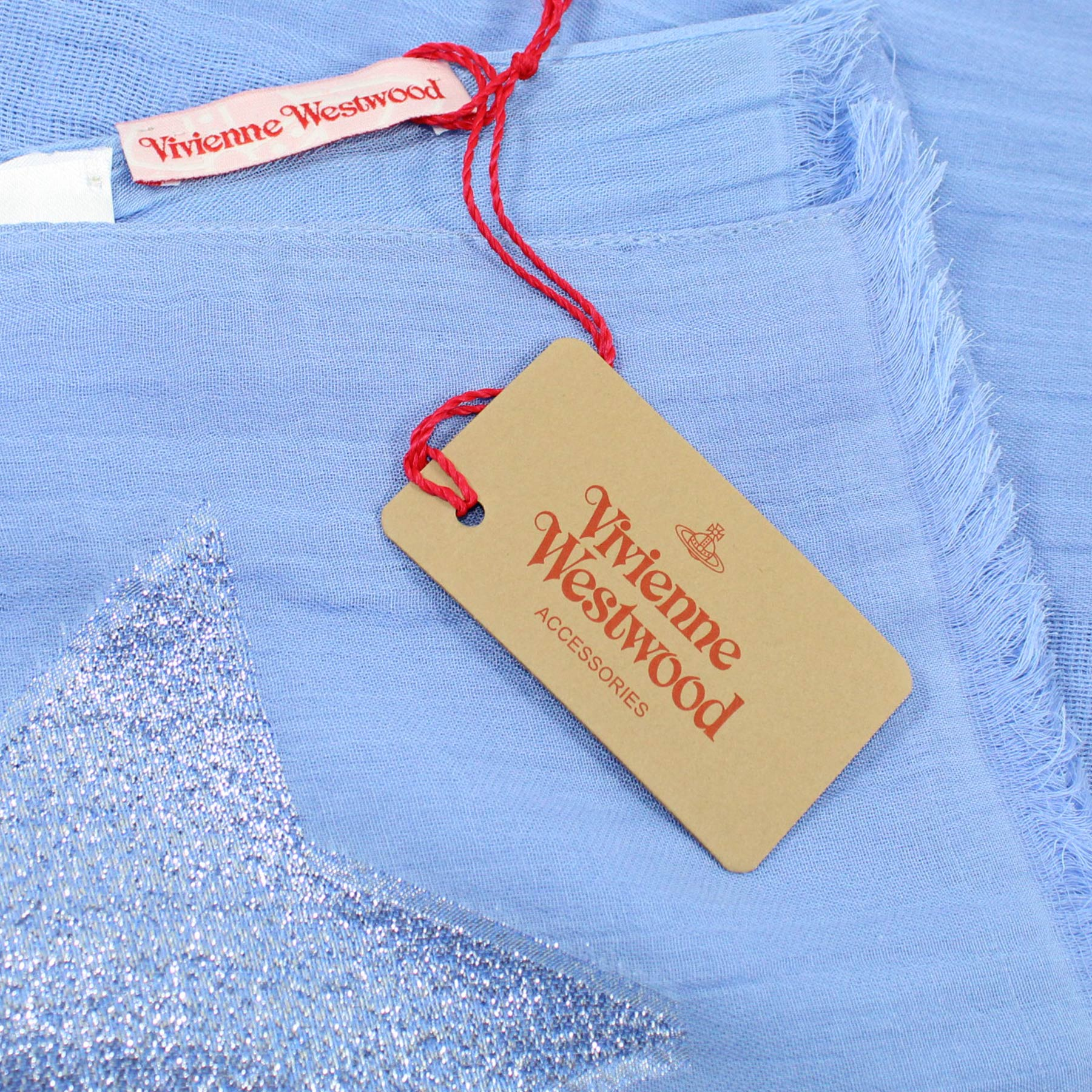 Vivienne Westwood Scarf Periwinkle Blue - Modal Cotton Blend Shawl FINAL SALE