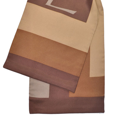 Silk YSL Scarf Brown Stripes Silk Shawl