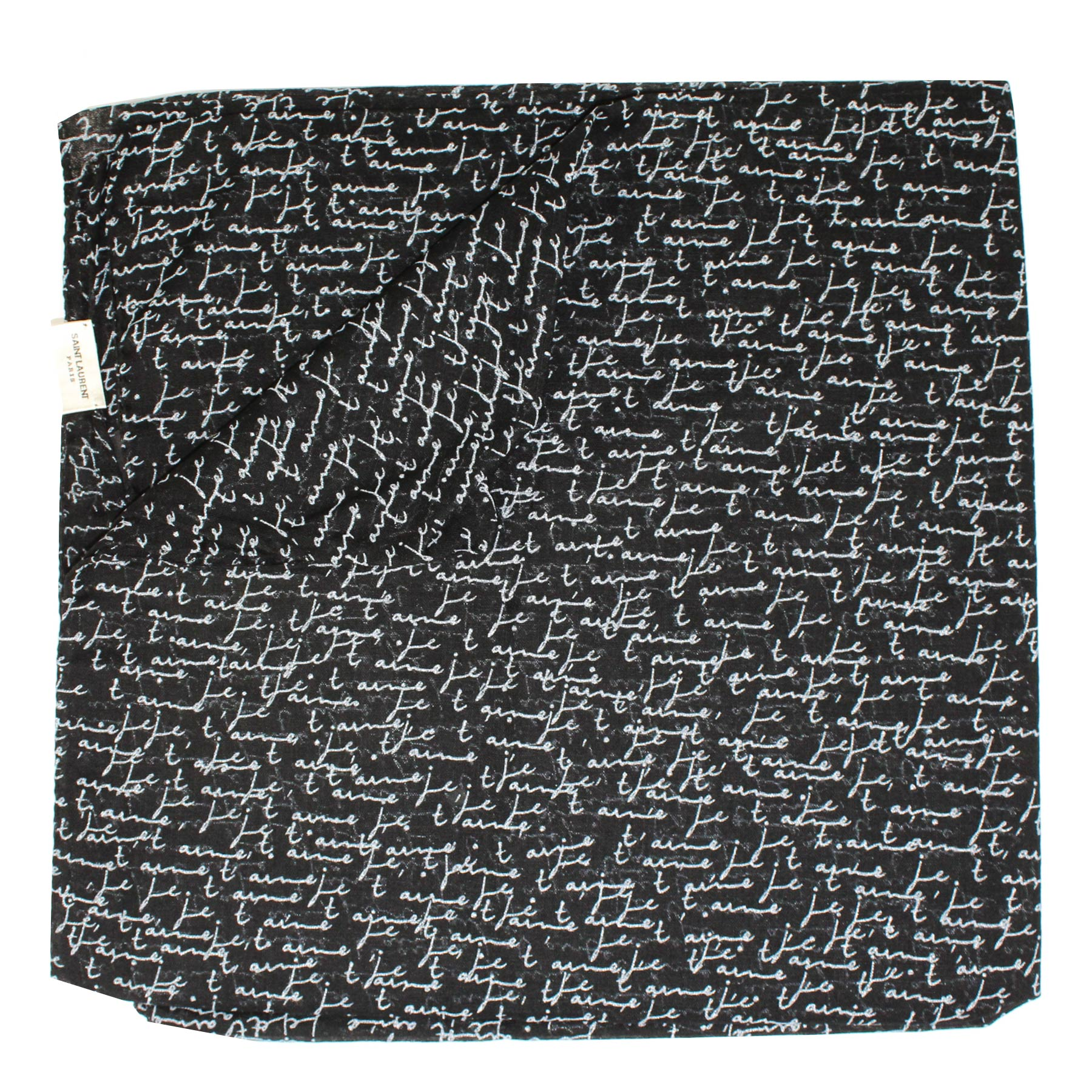 Saint Laurent Scarf Black Je t'Aime