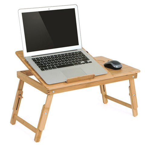 Image of Adjustable Laptop Table Desk with USB