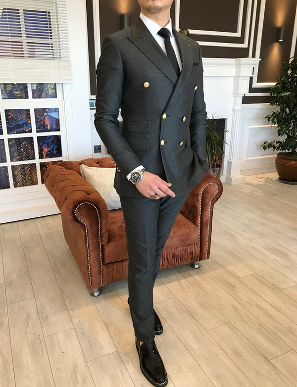 Alessandro Grey Double Breasted Suit