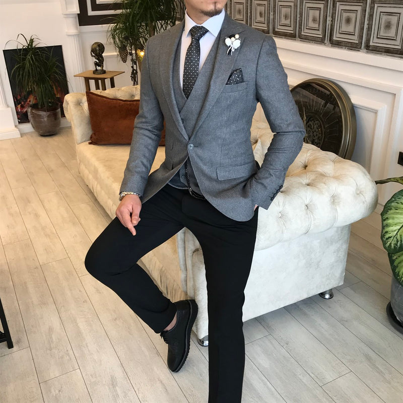 Bonacorso Grey Slim-Fit Suit