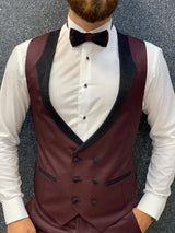 Cristian Elite Claret Red Slim Tuxedo Suit