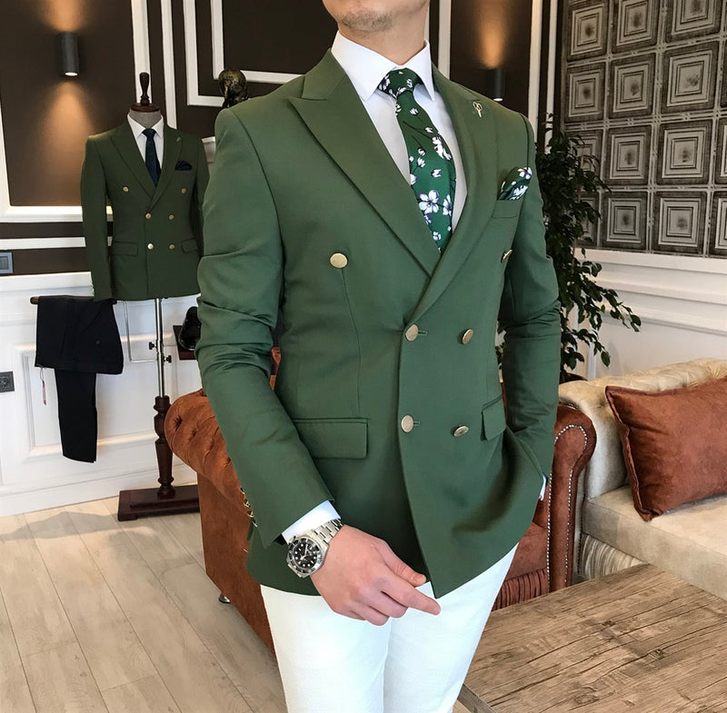Hudson Green Double Breasted Blazer