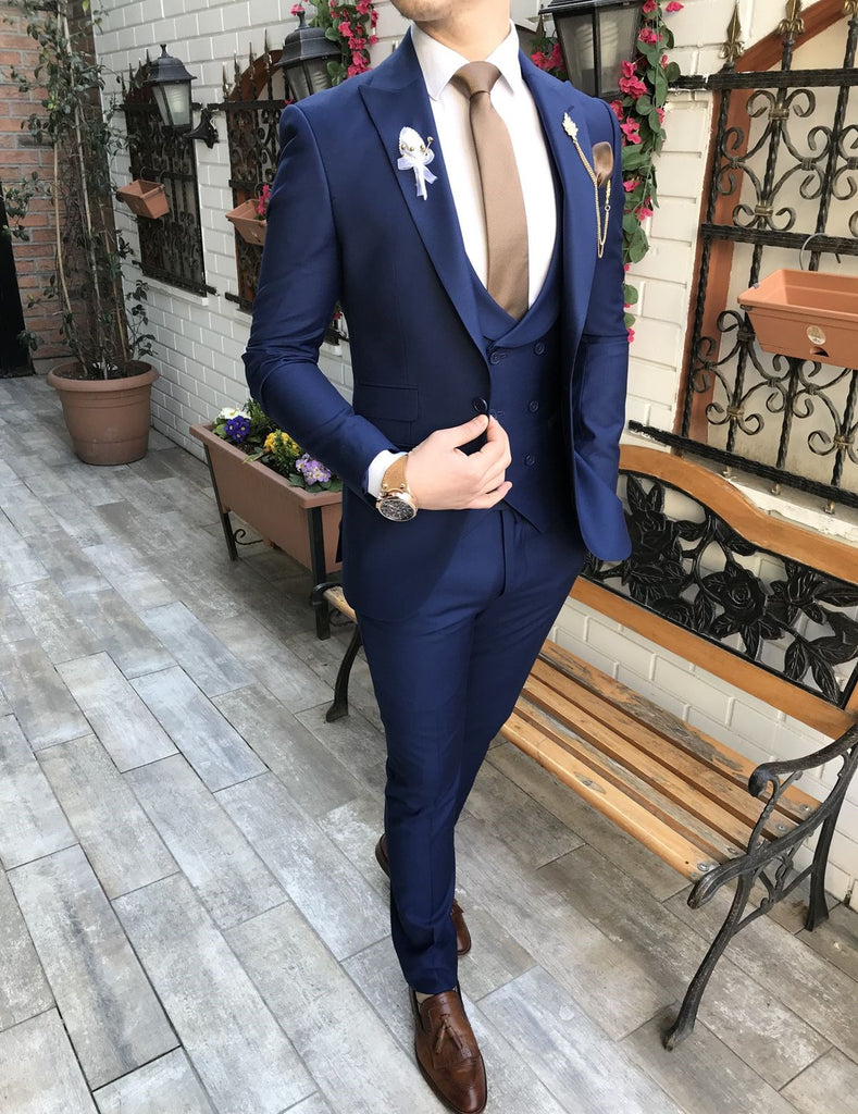 Giovanni Navy Slim-Fit Suit