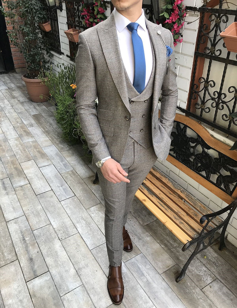 Marcello Beige Slim-Fit Suit