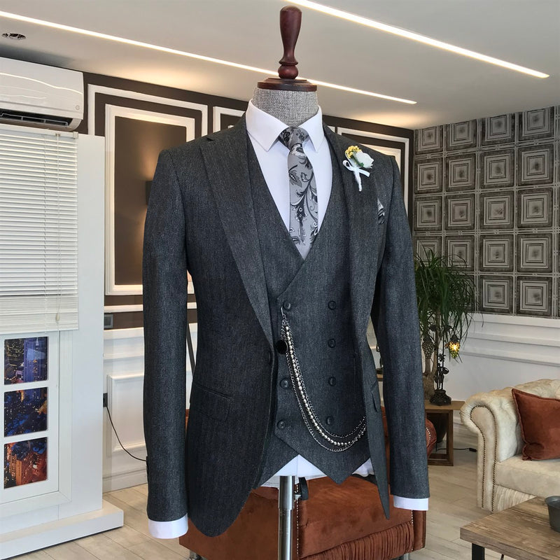 Marco Grey Slim-Fit Suit