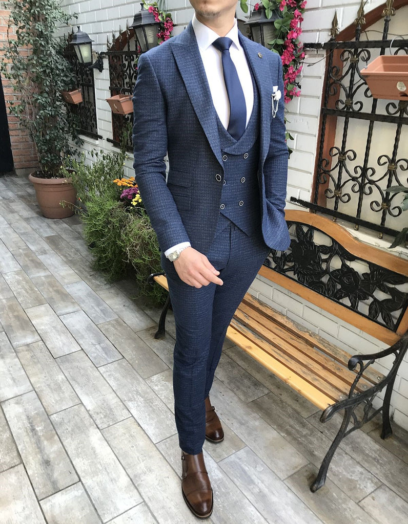 Martino Navy Slim-Fit Suit