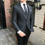 Martino D-Grey Slim-fit Suit