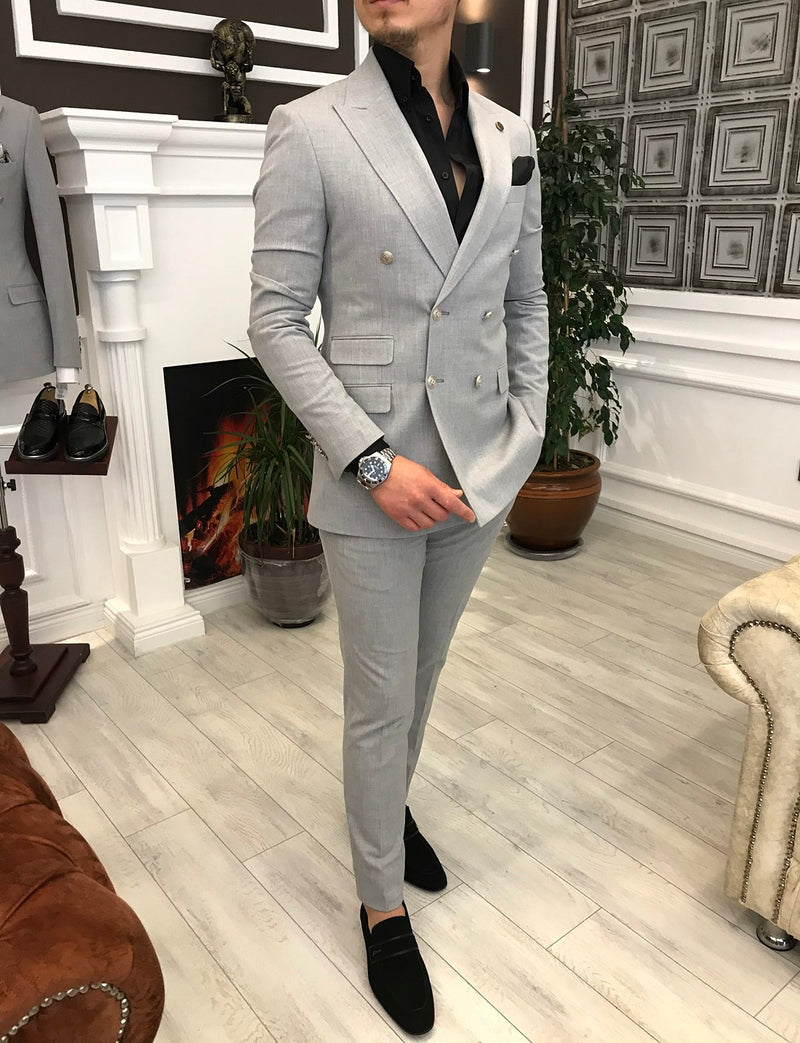 Riccardo Grey Double Breasted Suit