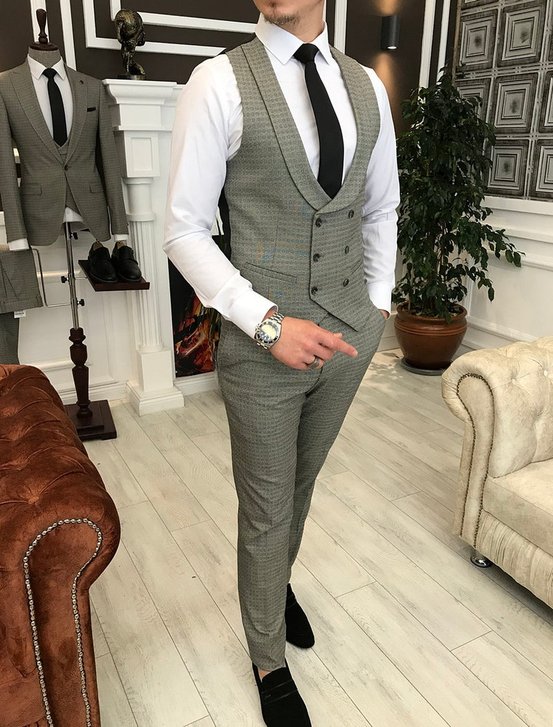 Sergio Grey Slim-Fit Suit