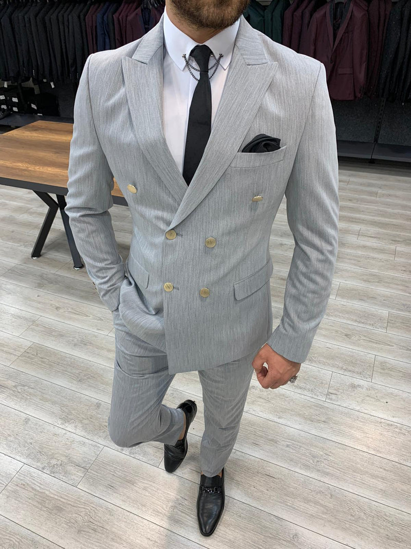 Bernardo Grey Double Breasted Suit