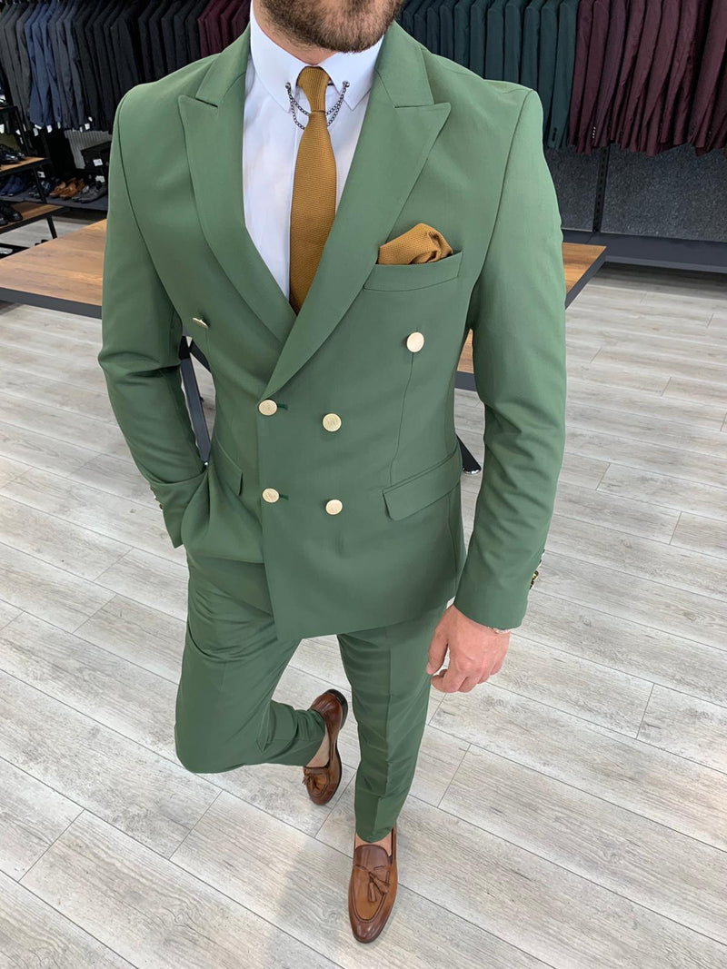 Bernardo Green Double Breasted Suit
