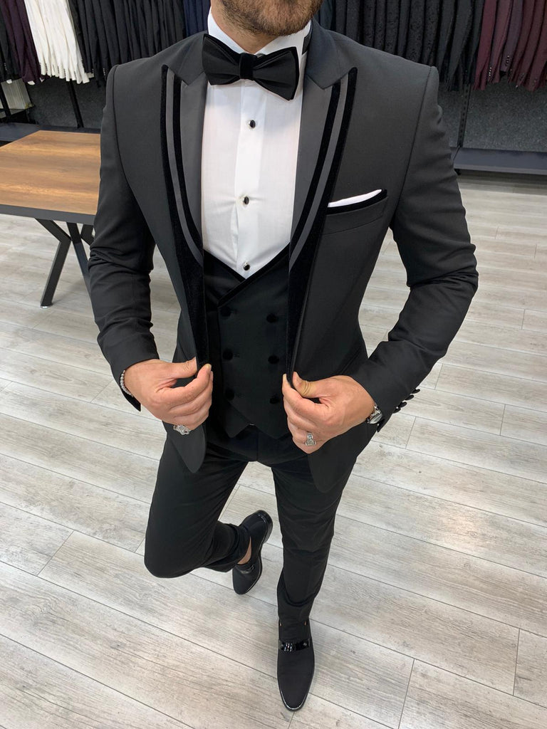 Stagio Black Slim-Fit Tuxedo